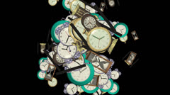 Abstract Clocks Stock Footage