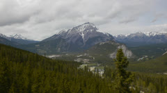 Canada, Banff, View From Banff Gondola 2 Stock Footage