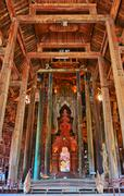 sanctuary of truth in chonburi thailand - stock photo