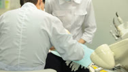 Medical Treatment at Dentist Office Stock Footage