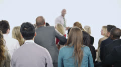 Stock Video Footage of Diverse group of business people attend a business seminar