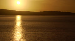 Chile, Chiloe, Sunset Water Reflection Stock Footage