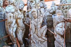 Wood carving chonburi thailand Stock Photos