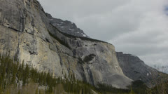 Canada, Canadian Rockies, Columbia Icefield, Distant Waterfall Stock Footage