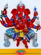 Elephant-headed god chachoengsao, thailand Stock Photos