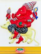 Elephant-headed god chachoengsao, thailand Stock Photos