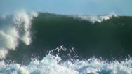 Stock Video Footage of Ocean very big wave