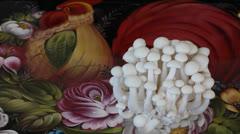 Enoki mushroom Stock Footage