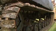 MILITARY ARMORED TANK BACKING UP IN ACTION CLOSE UP TREAD HD 1080 Stock Footage