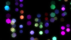 Lights out of focus 1 Stock Footage