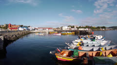 Chile, Chiloe, Inner Harbor WS Pan Stock Footage