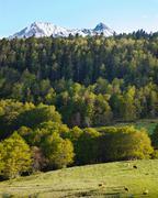Pyrenean landscape scenery Stock Photos