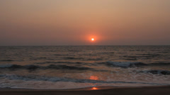 Evening scene with sunset on sea Stock Footage