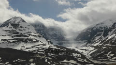 Canada, Canadian Rockies, Columbia Icefield 3 Stock Footage