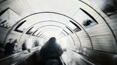 People in the metro. Time lapse. - stock footage