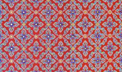 floral pattern painting - stock photo