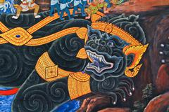 Thai art - stock photo