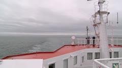 Canada, Prince Edward Island, Charlottetown, Ferry Boat Astern 1 - stock footage