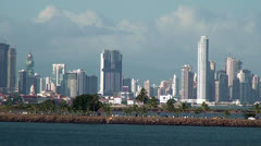 Panama City - Landscape view from the sea - Video High Definition - stock footage