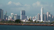 Stock Video Footage of Panama City - Landscape view from the sea - Video High Definition