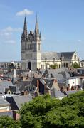 Cathedral Saint Maurice at Angers in France Stock Photos