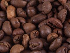 Composition of coffee beans Stock Photos
