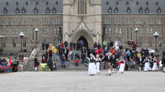 Highland Country  Dancers Perform At Ottawa Tartan Day Stock Footage