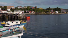 Chile, Chiloe, Inner Harbor MS Stock Footage