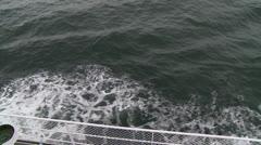 Canada, Prince Edward Island, Charlottetown, Ferry Boat Astern 2 Stock Footage