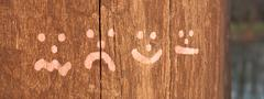 emoticons at timber - stock photo