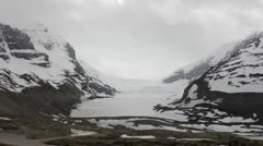 Canada, Canadian Rockies, Columbia Icefield, Glacier MS Stock Footage