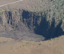 Kilauea Iki Crater in Hawaii Volcanoes National Park Stock Footage