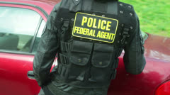 Police feds federal agent Stock Footage