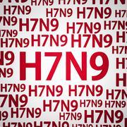 H7n9 flunssa tai influenssa-virus Piirros