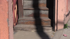 San Francisco,stairs in ghetto Stock Footage