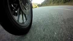 Dynamic Harley Davidson Motorcycle footage from a Bike Camera Duri Stock Footage