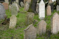 Old jewish cemetery in prague old town Stock Photos