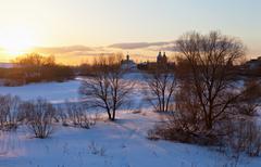 Christian orthodox monastery in novgorod region, russia. Stock Photos