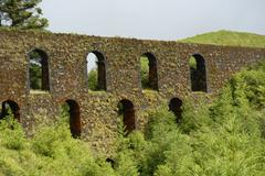 Old aqueduct in sao miguel island, azores, portugal Stock Photos
