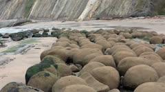 Bowling Ball Beach Pacific Ocean California HD 5700 Stock Footage