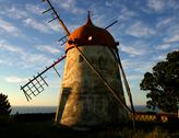 Stock Photo of azores ancient windmill in sao miguel