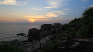 Stock Video Footage of Sunset on the Similan islands, Thailand.
