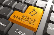 Stock Illustration of Mobile Marketing Button.