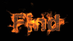 Flame find word,fire text. Stock Footage