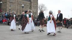 Scottish Dancing Ottawa 2 Stock Footage