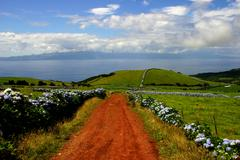 azores islands at sao miguel - stock photo