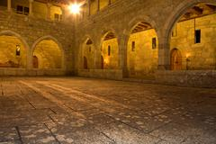 interior view of palace of duques de braganca, in guimaraes, portugal - stock photo