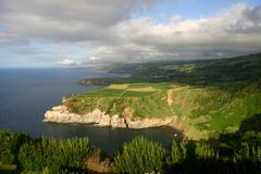 Azores coastal view Stock Photos