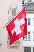 Swiss national day in zurich Stock Photos