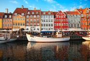 Copenhagen (nyhavn district) in a sunny summer day Stock Photos